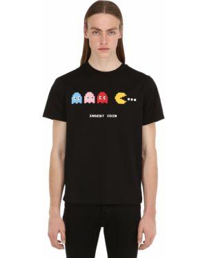 Czarny t-shirt bawełniany z printem 8-bit By Mhrs