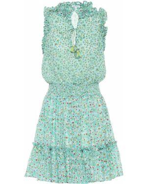 Летнее платье мини мятный Poupette St Barth