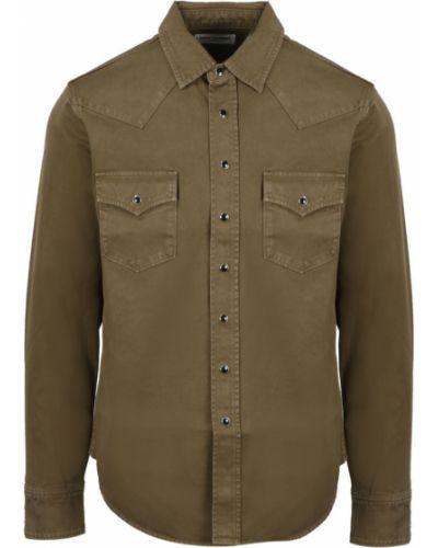Klasyczna koszula - brązowa Saint Laurent