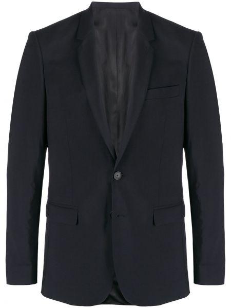 Костюмный шерстяной синий костюм Sandro Paris