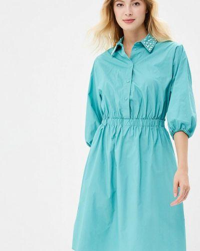 Платье бирюзовый платье-рубашка Zarina