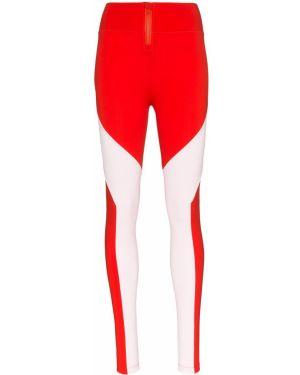 Облегающие красные леггинсы с вырезом Y-3