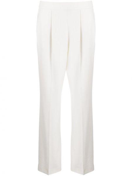 Шерстяные плиссированные брюки с поясом с высокой посадкой Agnona