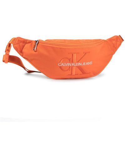 Pomarańczowy plecak Calvin Klein Jeans
