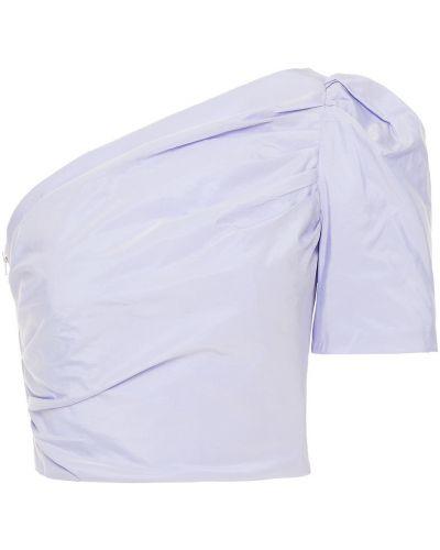Фиолетовый топ с оборками с подкладкой Maje
