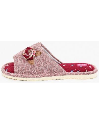 Текстильные розовые домашние тапочки Smile Of Milady