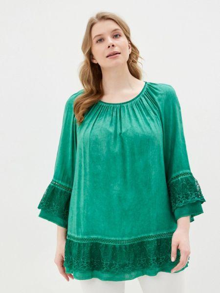 Блузка с рюшами зеленый Ulla Popken