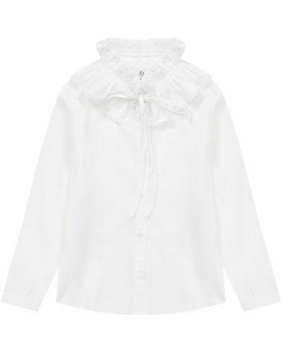 Блузка с длинным рукавом кружевная с рюшами Aletta