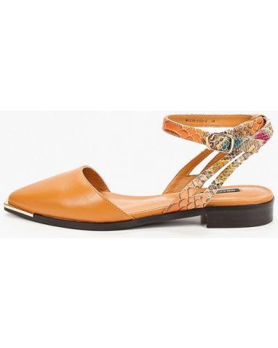 Коричневые кожаные туфли Graciana