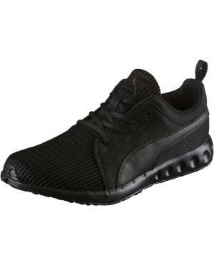 Черные кроссовки беговые сетчатые на шнуровке с сеткой Puma