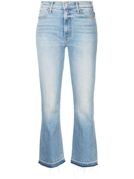 Укороченные джинсы классические на молнии Mother