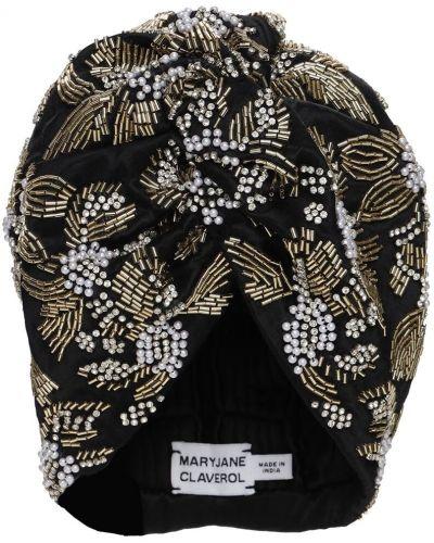 Akryl turban z perłami złoto Mary Jane Claverol