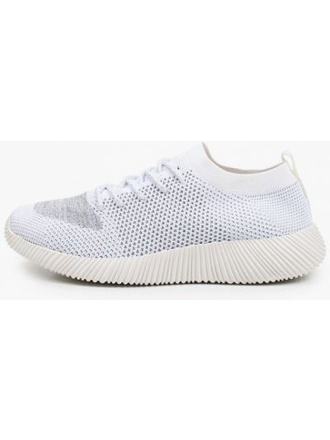 Белые текстильные низкие кроссовки Der Spur