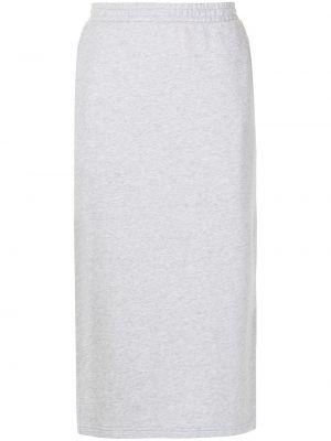 Хлопковая юбка миди - серая The Upside