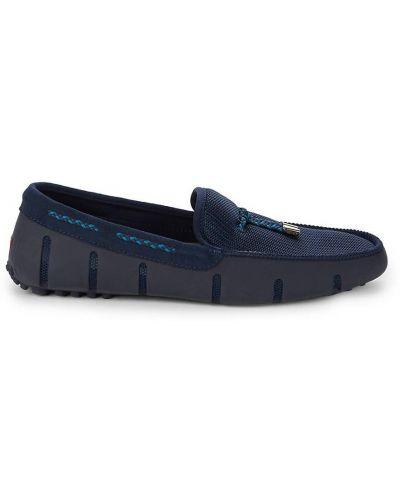 Кружевные замшевые туфли на шнурках Swims