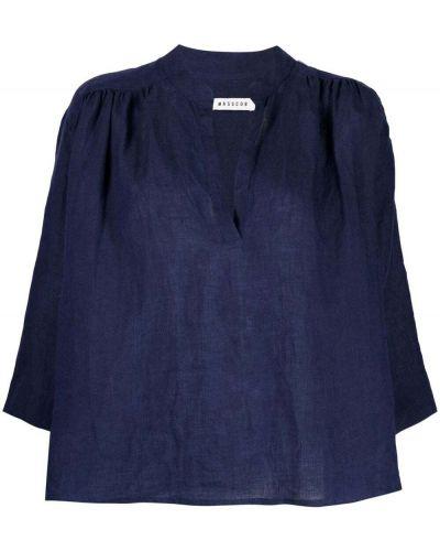 Z rękawami bluzka z dekoltem z falbankami Masscob