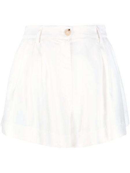 Хлопковые белые шорты с карманами Forte Forte