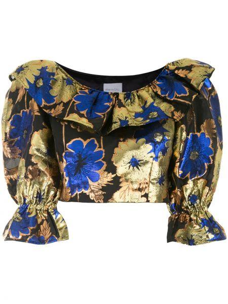 С рукавами нейлоновая блузка золотая с манжетами Alice Mccall
