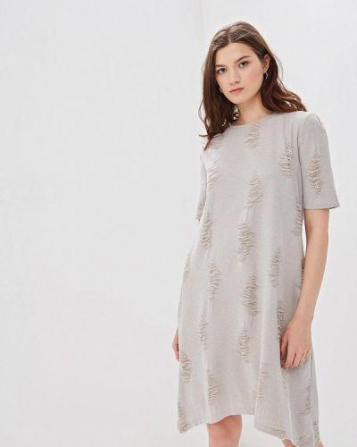 Платье футболка бежевое мадам т