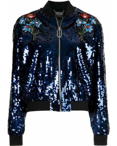 Синяя длинная куртка с манжетами Markus Lupfer