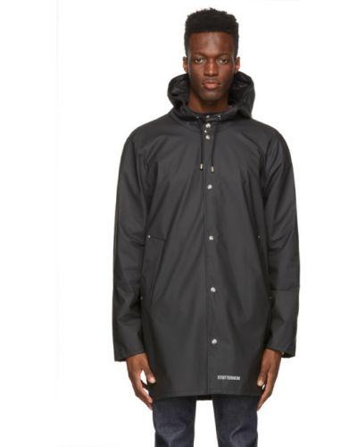 Czarny płaszcz przeciwdeszczowy z kapturem z nylonu Stutterheim