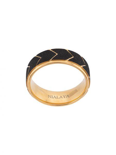 Кольцо из золота серебряный Nialaya Jewelry