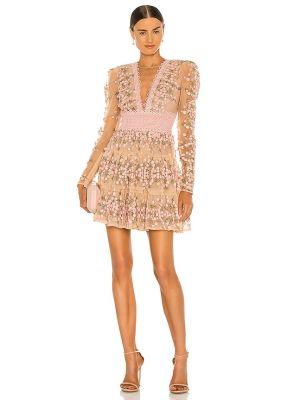 Пляжное розовое платье мини из фатина Bronx And Banco