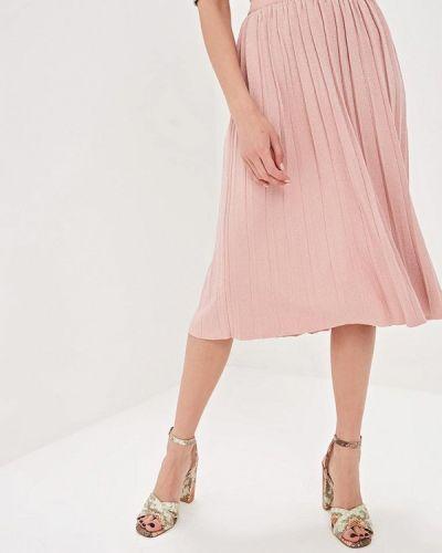 Плиссированная юбка розовая Kira Mesyats
