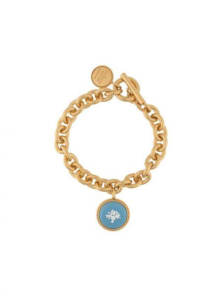 Niebieska złota bransoletka ze złota Mulberry
