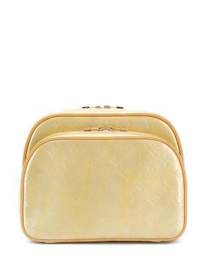 Skórzany plecak żółty wytłoczony Louis Vuitton Pre-owned