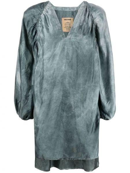 Kaftan asymetryczny z dekoltem w serek srebrny Uma Wang