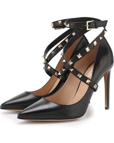 Туфли на высоком каблуке кожаные Valentino