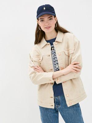 Бежевая джинсовая куртка S.oliver