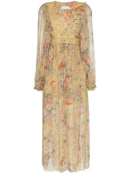 Платье макси с запахом шелковое Zimmermann