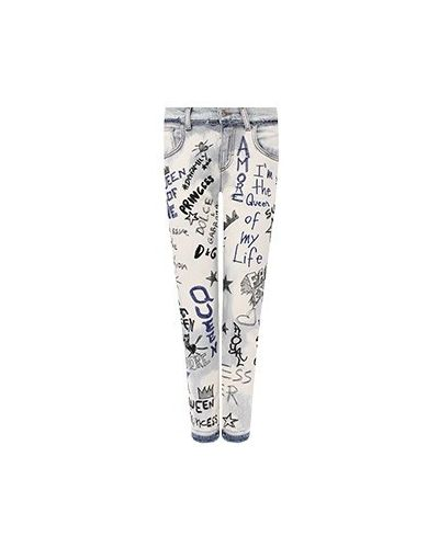 Зауженные джинсы - голубые Dolce&gabbana