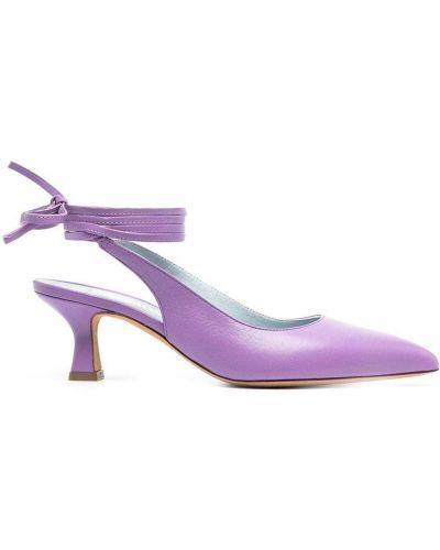 С ремешком кожаные туфли-лодочки на каблуке Roberto Festa