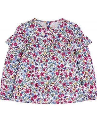 Блуза с оборками с цветочным принтом Mothercare