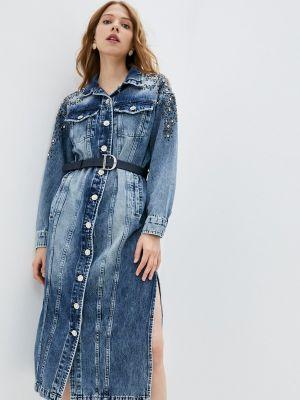 Джинсовое синее платье D'she