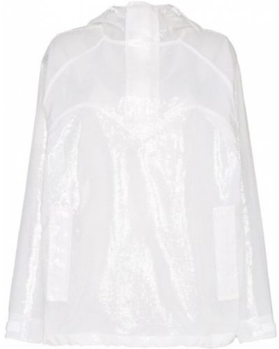 Белая спортивная куртка прозрачная с пайетками Pushbutton