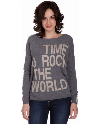 Пуловер свободного кроя серый Monari