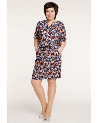 Платье с заниженной талией из штапеля марита