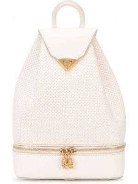 Кожаная белая кожаная сумка на бретелях Tyler Ellis