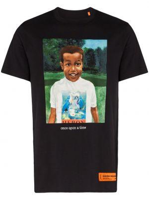 Koszula krótkie z krótkim rękawem z nadrukiem niebieski Heron Preston