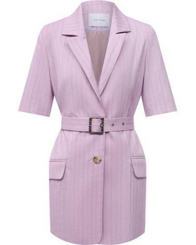 Фиолетовый хлопковый пиджак Lesyanebo