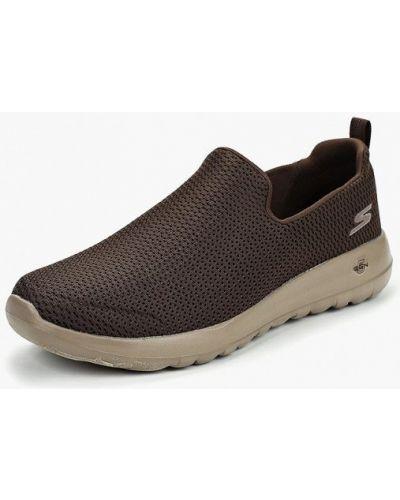 Коричневые кроссовки низкие Skechers