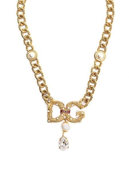 Цепочка золотая с подвесками металлическая Dolce & Gabbana