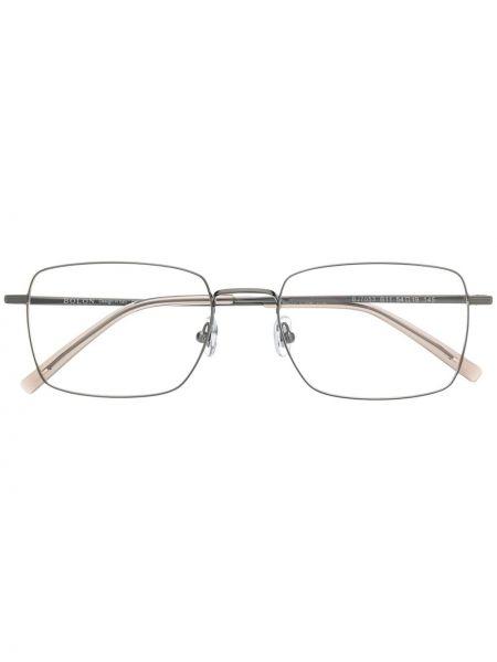 Серебряные солнцезащитные очки квадратные металлические с завязками Bolon