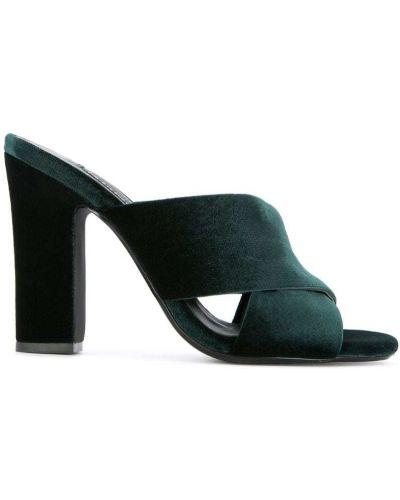 Мюли на каблуке зеленый Senso