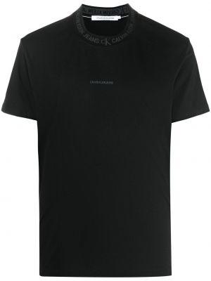 Футболка с принтом - черная Calvin Klein Jeans