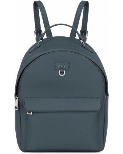 Кожаный рюкзак на молнии нейлоновый Furla